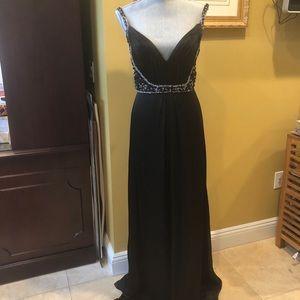 Badgley Mischka Couture Silk Dress sz 6 NWT